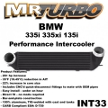 INT33  BMW 335i 335xi 135i Performance Intercooler Black 07-13