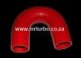 SIL180DEG38R 38mm 180deg 3ply bend RED