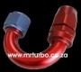 AER024 AN8 180 degree push on hose end