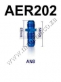 AER202 AN-8 to AN-8 FlARE BULKHEAD STRAIGHT MALE FUEL OIL HOSE F