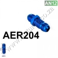 AER204 12AN AN12 MALE THREAD STRAIGHT BULKHEAD FLARE BLUE ALUMIN