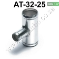 "AT-32-25  Universal BOV T-pipe 32mm 1.26"" outlet 25mm Blow Off V"