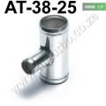 "AT-38-25 Universal BOV T-pipe 38mm 1.5"" outlet 25mm Blow Off Val"