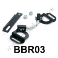 BB03 BLACK Vehicle Adjustable Battery Hold Down Kit