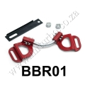BBR01 RED Vehicle Adjustable Battery Hold Down Kit