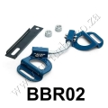 BBR02 BLUE Vehicle Adjustable Battery Hold Down Kit