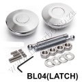 BL04 SILVER Quick Latch Mini Quik Latch Fastener