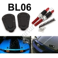 BL06 BLACK Universal Racing Lock Plus Flush Hood Latch & Pin Kit