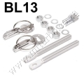 BL13 SILVER Racing Hood Bonnet Pin Kit