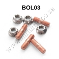 BOL03 Turbo Studs Kit M10 x 1.50 L35mm Flange Nuts T3 T4 Set of