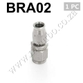 BRA02 AN3 Straight Teflon Braid AN Fitting