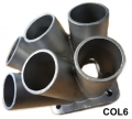 COL6  CAST STAINLESS STEEL 304 6-1 TURBO HEADER MANIFOLD MERGE C