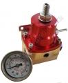 FPR05  Fuel Pressure Rulator Red-Slive Adjustable AN6 1/8 NPT Ga