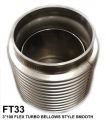 "FT33 3""X100 FLEX TUBE BELLOWS STYLE SMOOTH INSIDE"