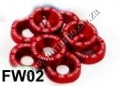 FW02  RED 8PCS/LOT JDM STYLE FENDER WASHERS BUMPER WASHER LISENC