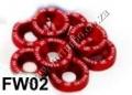 FW02  RED 8PCS/LOT JDM STYLE FENDER WASHERS BUMPER WASHER LISENC