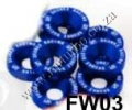 FW03  BLUE 8PCS/LOT JDM STYLE FENDER WASHERS BUMPER WASHER LISEN