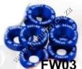 FW03  BLUE 8PCS/LOT JDM STYLE FENDER WASHERS BUMPER WASHER LISEN