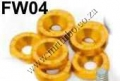FW04  GOLD 8PCS/LOT JDM STYLE FENDER WASHERS BUMPER WASHER LISEN