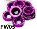 FW05  PURPLE 8PCS/LOT JDM STYLE FENDER WASHERS BUMPER WASHER LIS