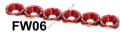 FW06 RED 6PCS/LOT JDM STYLE FENDER WASHERS BUMPER WASHER LISENCE