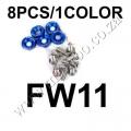 FW11 BLUE FENDER WASHERS