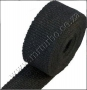 HW11 Black Heat Exhaust Thermal Wrap Tape With Stainless Ties 5c