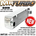 INT35 BMW 135 135i 335 335i E90 E92 06-10 N54 INTERCOOLER