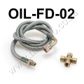 "OIL-FD-02 Braided Stainless Steel 36"" T25/T28 Turbo Oil Inlet"