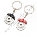 PROM-06 Mini RED Brake Caliper Cover Keyring