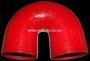 SIL180DEG100R 102mm 180deg 3ply bend RED