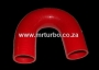 SIL180DEG38R 38mm 180deg 3ply bend RED
