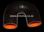 SIL180DEG50B 50mm 180deg 3ply bend BLACK
