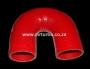SIL180DEG50R 50mm 180deg 3ply bend RED