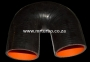 SIL180DEG76B 76mm 180deg 3ply bend BLACK