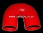 SIL180DEG76R 76mm 180deg 3ply bend RED