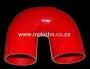 SIL180DEG76R 76mm 180deg 3ply bend RED