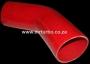 SIL38R 80mm 45deg Silicone Bend