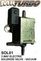 SOL01 3 Way Electric Solenoid Valve - Vacuum