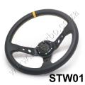 STW01 50mm/3inch Deep Dish PVC Sport Racing Steering Wheel + Hor