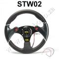 STW02Q 320MM PVC Yellow Carbon Firbre Racing Sport Car Steering