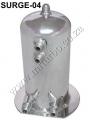 SURGE-04 Aluminum ALLOY 2.5 LITRE TWIN DOME FUEL SWIRL POT SURGE