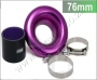 "TRU02 Trumpet 3"" PURPLE With Clamps And Slicone 76mm"