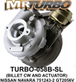 TURBO-058B-SL TURBO WITH ACC BILLET NISSAN NAVARA 751243-2 GT205
