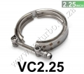 "VC2.25 Universal 2.25"" Stainless Steel Turbo V Band Clamp For Tu"
