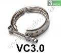 "VC3.0 Universal 3"" Stainless V-band Clamp Turbine Downpipe/Manif"