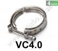 "VC4.0 Universal 4"" Stainless Steel Turbo V Band Clamp For Turbo"