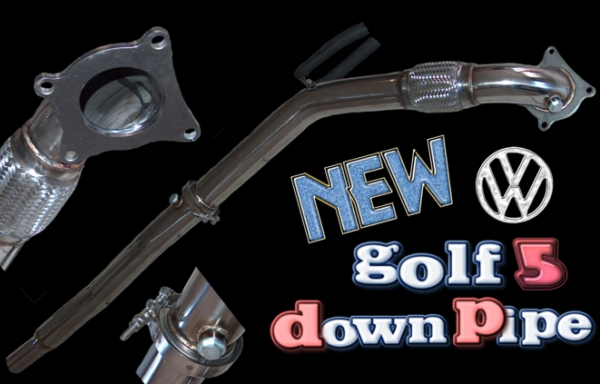 Golf5 downpipe resize